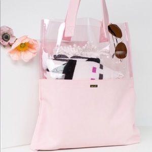 Handbags - NWT Ban.do Peekaboo Tote (Pink or White)
